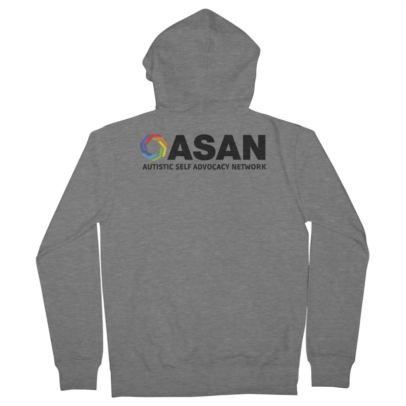Horizontal Logo Men's French Terry Zip-Up Hoody by Autistic Self Advocacy Network Shop