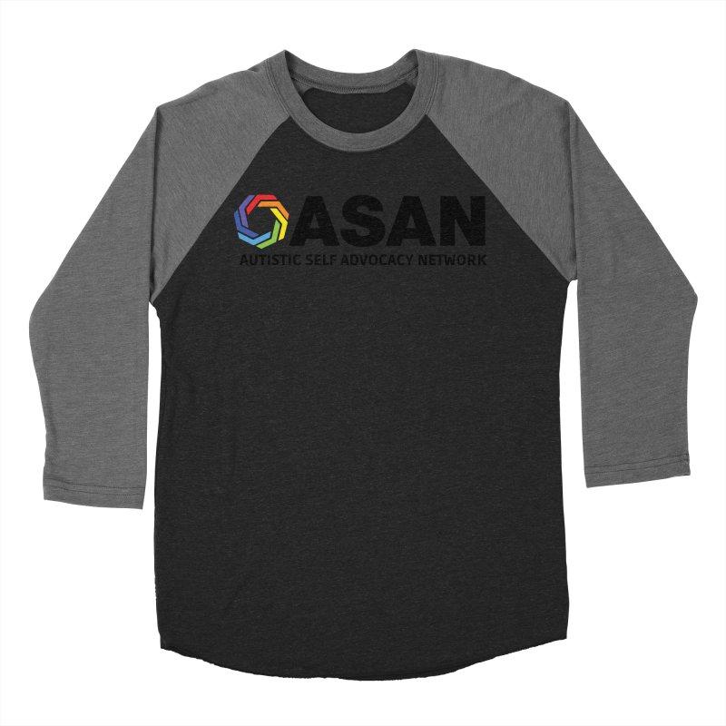 Horizontal Logo Women's Baseball Triblend Longsleeve T-Shirt by Autistic Self Advocacy Network Shop