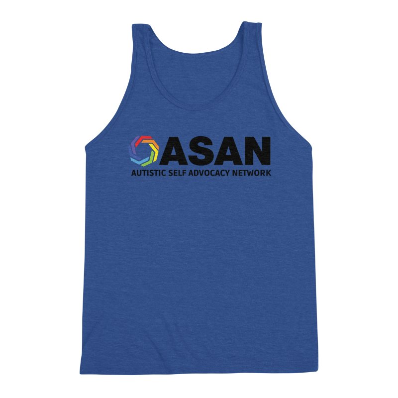 Horizontal Logo Men's Triblend Tank by Autistic Self Advocacy Network Shop