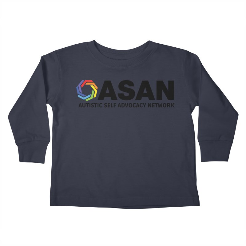Horizontal Logo Kids Toddler Longsleeve T-Shirt by Autistic Self Advocacy Network Shop