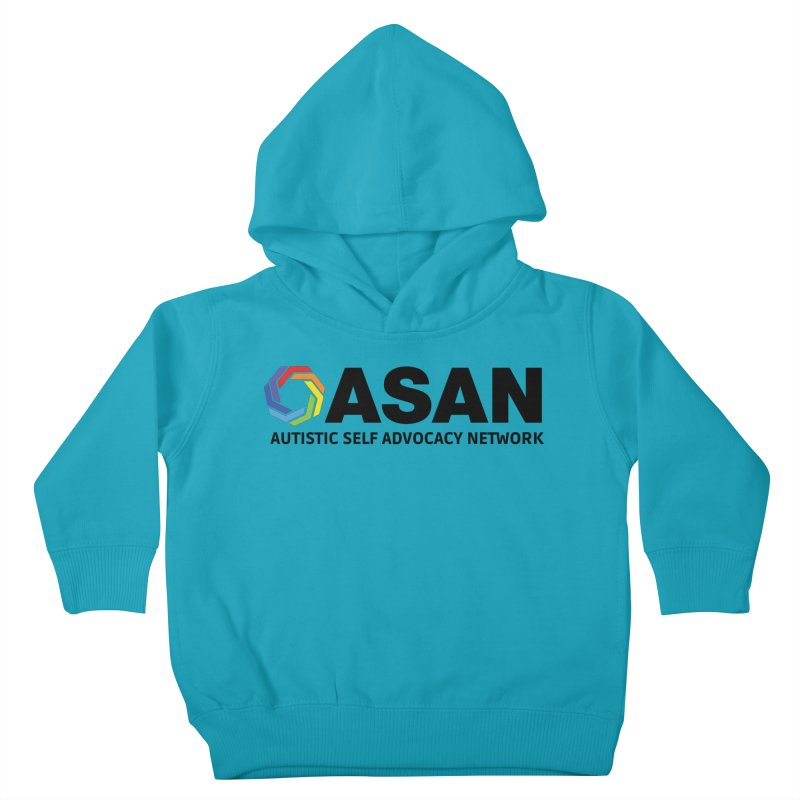 Horizontal Logo Kids Toddler Pullover Hoody by Autistic Self Advocacy Network Shop