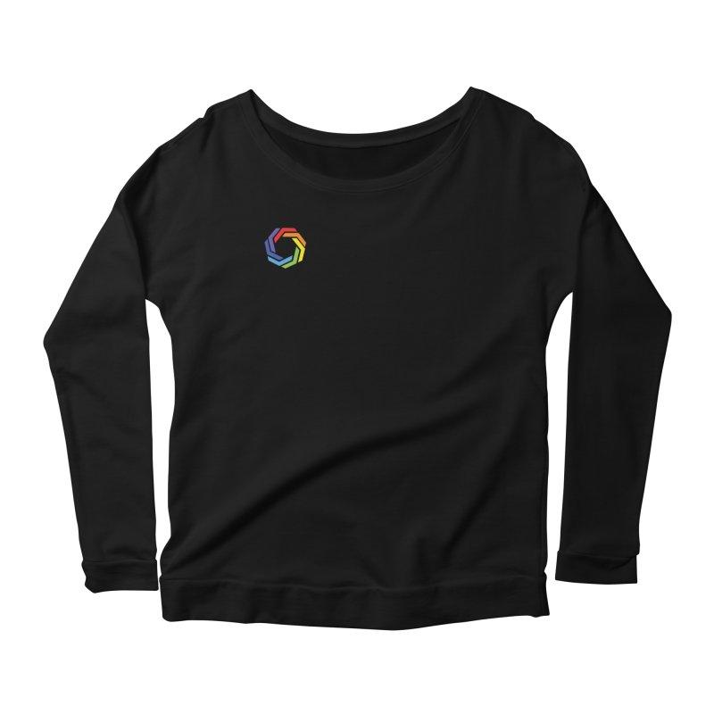 Horizontal Logo Women's Scoop Neck Longsleeve T-Shirt by Autistic Self Advocacy Network Shop