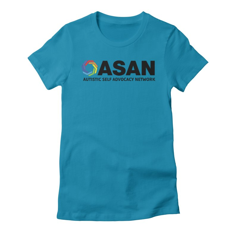 Horizontal Logo Women's Fitted T-Shirt by Autistic Self Advocacy Network Shop