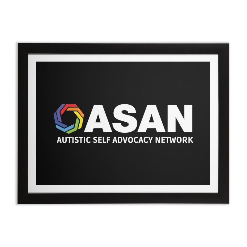Horizontal Logo (Dark) Home Framed Fine Art Print by Autistic Self Advocacy Network Shop