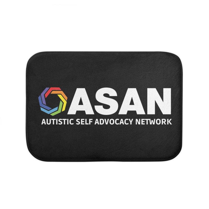 Horizontal Logo (Dark) Home Bath Mat by Autistic Self Advocacy Network Shop