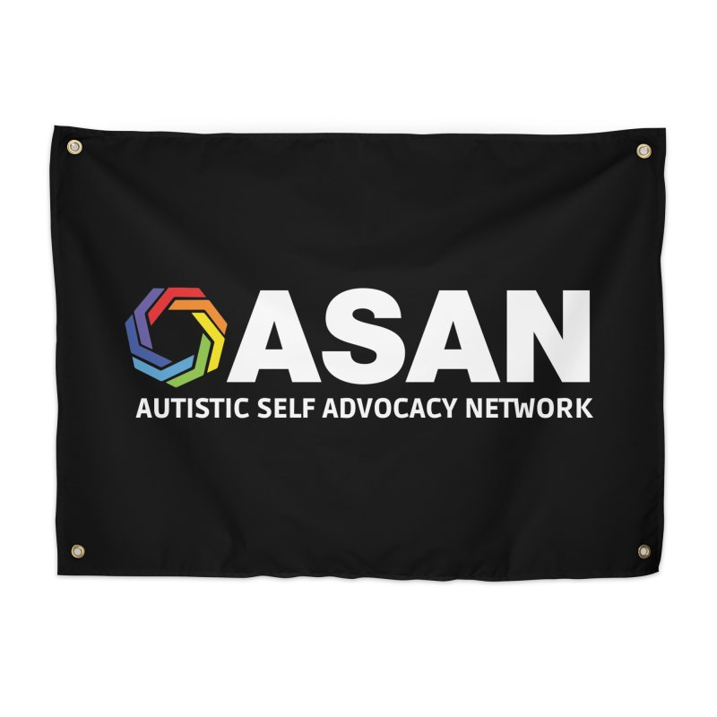 Horizontal Logo (Dark) Home Tapestry by Autistic Self Advocacy Network Shop