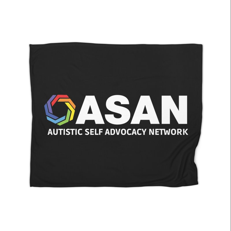 Horizontal Logo (Dark) Home Fleece Blanket Blanket by Autistic Self Advocacy Network Shop
