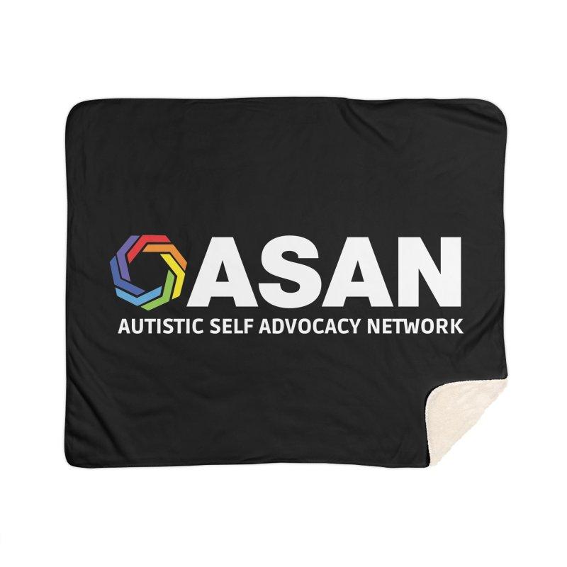Horizontal Logo (Dark) Home Sherpa Blanket Blanket by Autistic Self Advocacy Network Shop