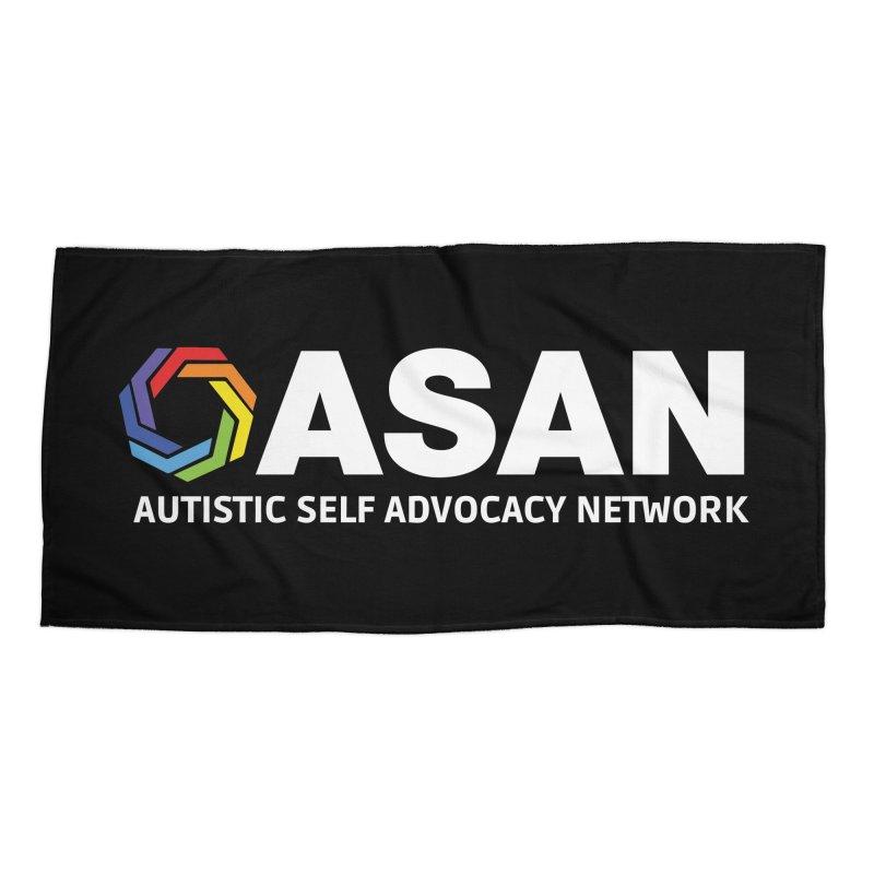 Horizontal Logo (Dark) Accessories Beach Towel by Autistic Self Advocacy Network Shop