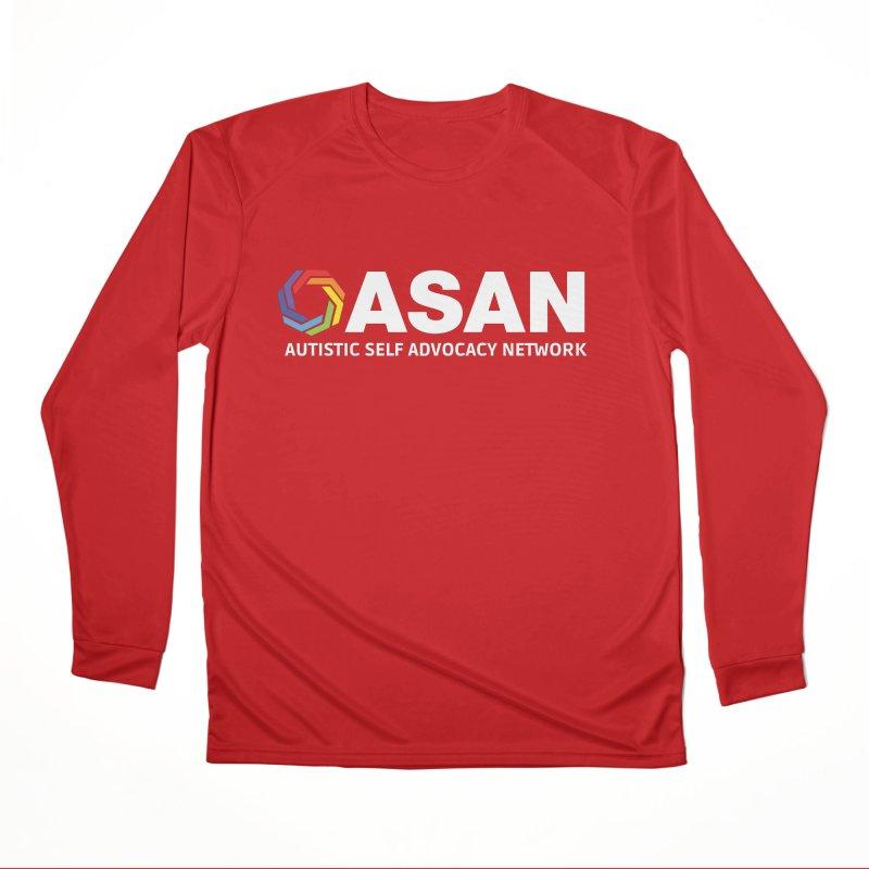 Horizontal Logo (Dark) Men's Performance Longsleeve T-Shirt by Autistic Self Advocacy Network Shop