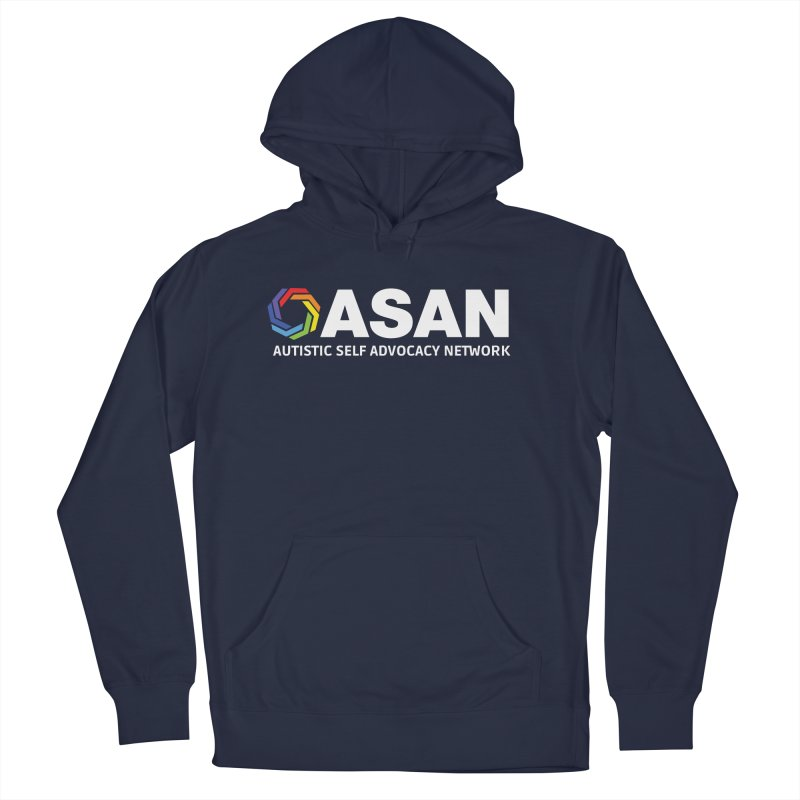 Horizontal Logo (Dark) Women's French Terry Pullover Hoody by Autistic Self Advocacy Network Shop