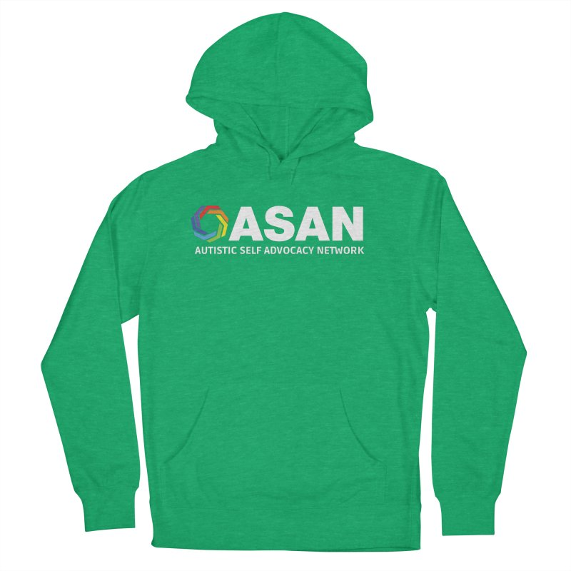 Horizontal Logo (Dark) Men's French Terry Pullover Hoody by Autistic Self Advocacy Network Shop
