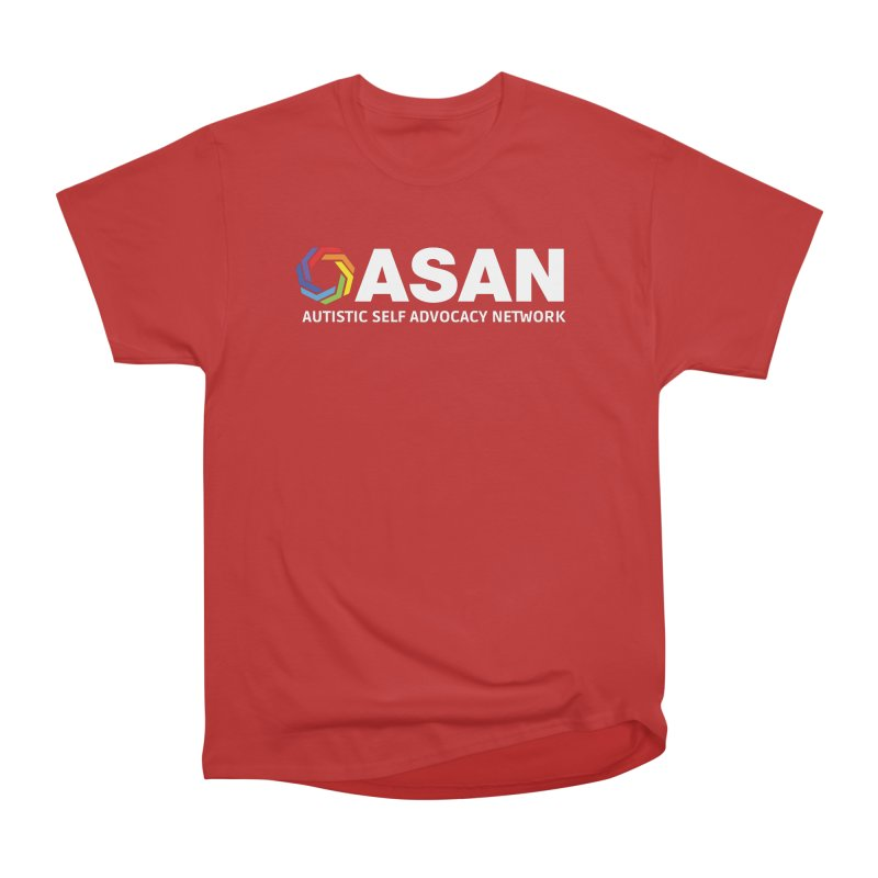 Horizontal Logo (Dark) Women's Heavyweight Unisex T-Shirt by Autistic Self Advocacy Network Shop