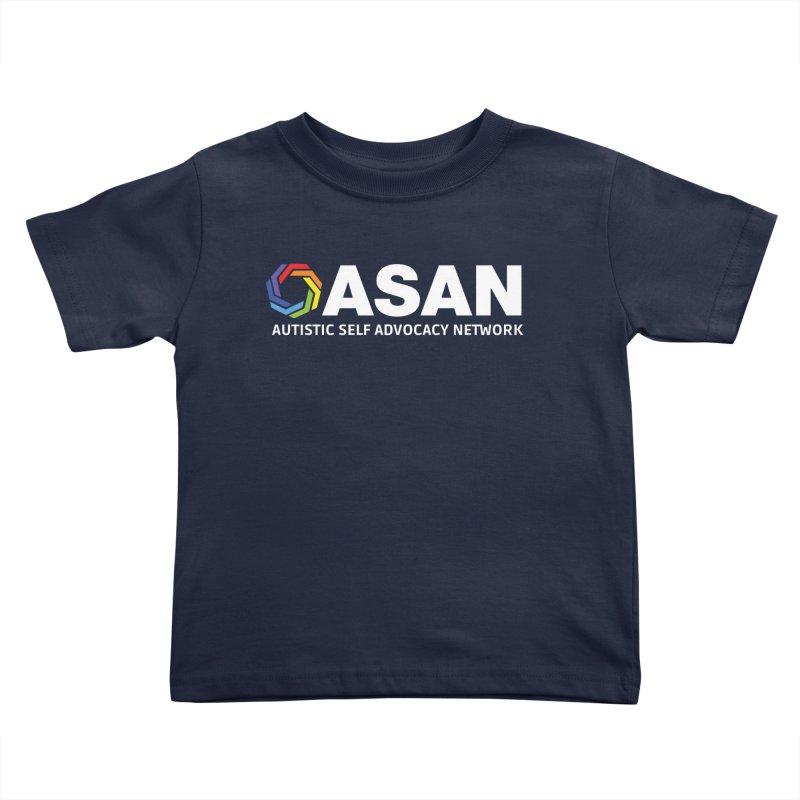 Horizontal Logo (Dark) Kids Toddler T-Shirt by Autistic Self Advocacy Network Shop