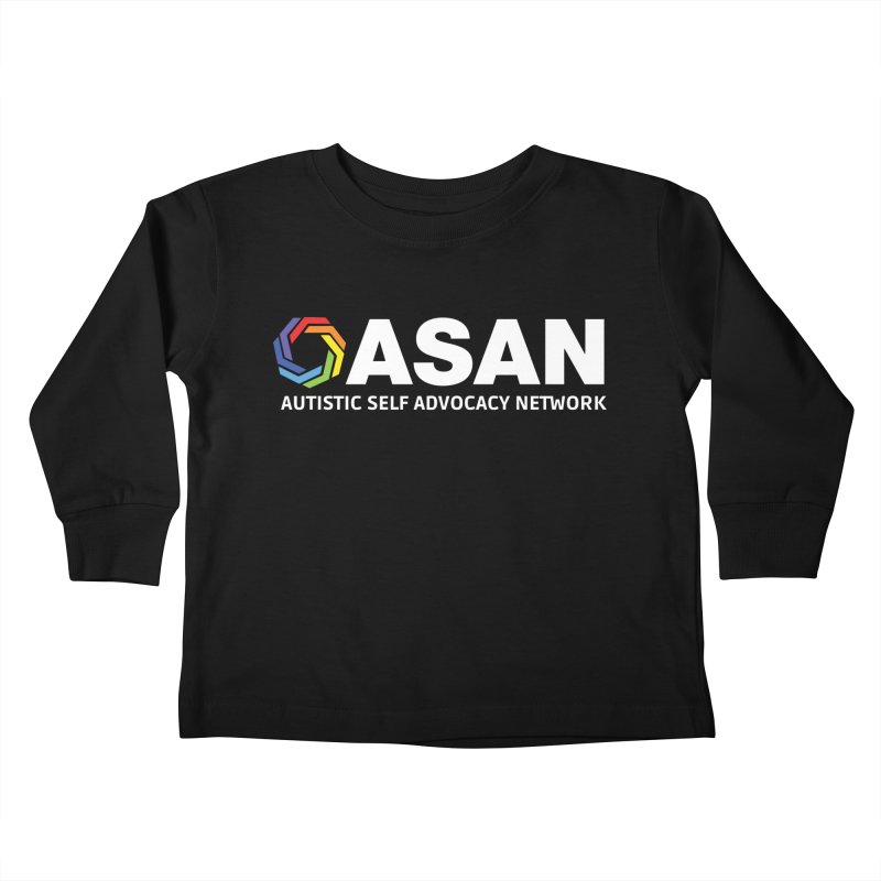 Horizontal Logo (Dark) Kids Toddler Longsleeve T-Shirt by Autistic Self Advocacy Network Shop