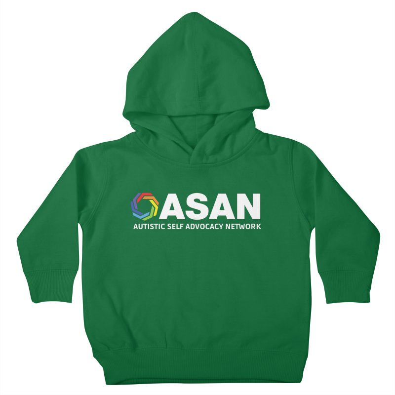 Horizontal Logo (Dark) Kids Toddler Pullover Hoody by Autistic Self Advocacy Network Shop