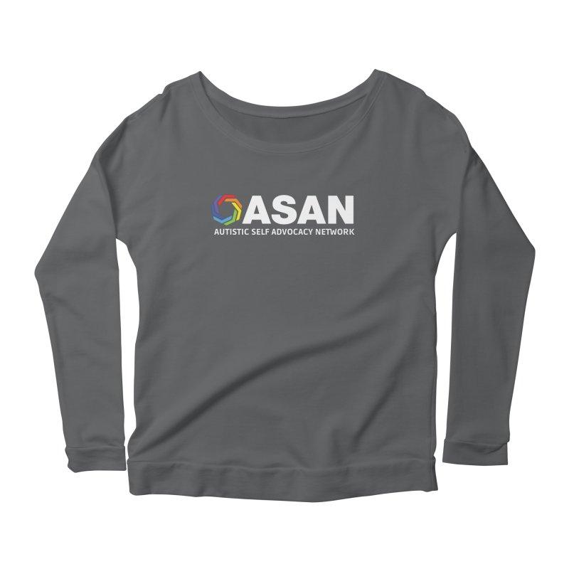 Horizontal Logo (Dark) Women's Scoop Neck Longsleeve T-Shirt by Autistic Self Advocacy Network Shop
