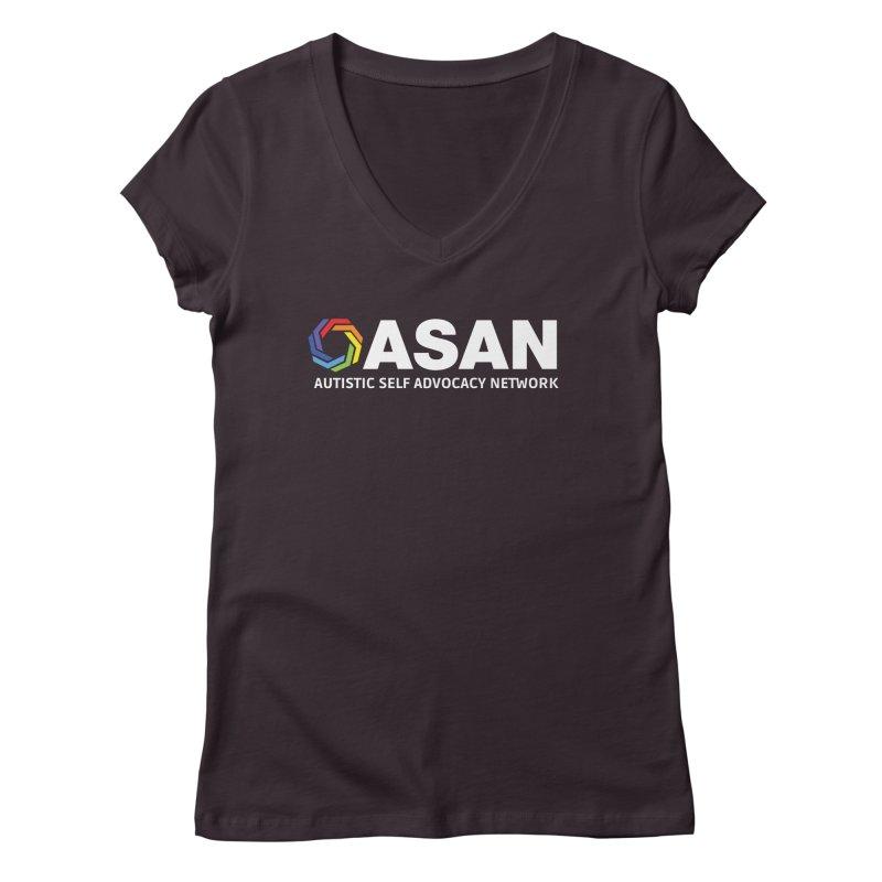 Horizontal Logo (Dark) Women's Regular V-Neck by Autistic Self Advocacy Network Shop