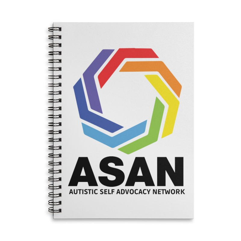 Vertical Logo Accessories Lined Spiral Notebook by Autistic Self Advocacy Network Shop