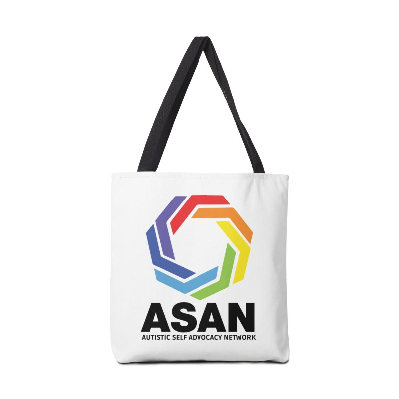 Vertical Logo Accessories Tote Bag Bag by Autistic Self Advocacy Network Shop