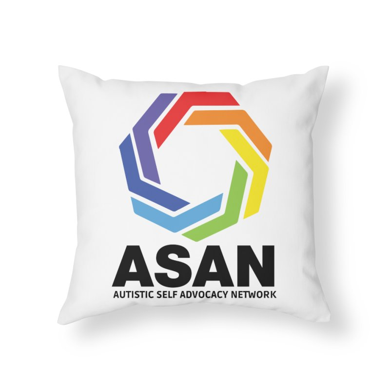Vertical Logo Home Throw Pillow by Autistic Self Advocacy Network Shop