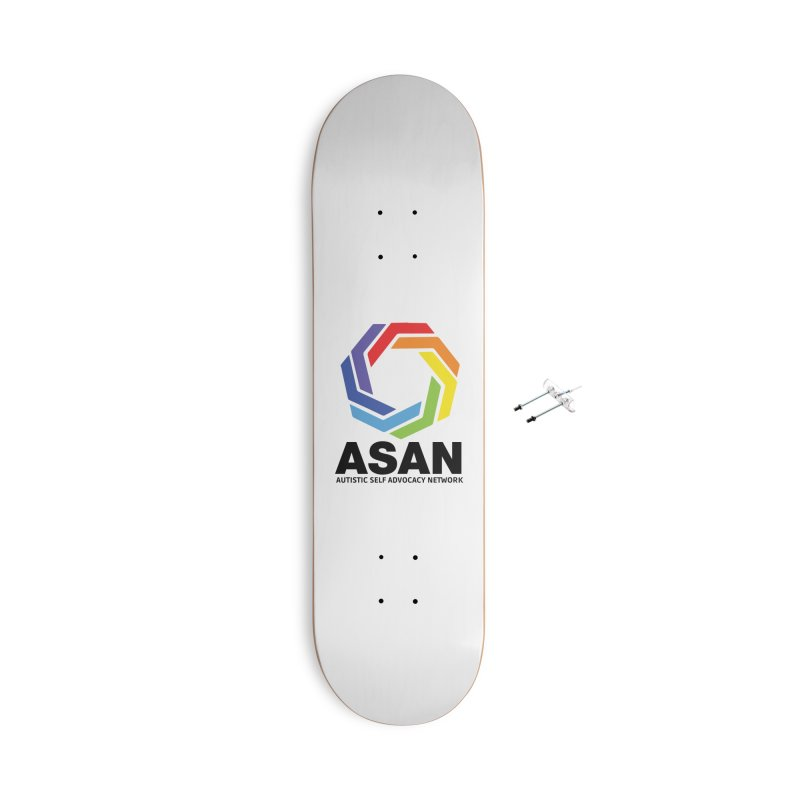 Vertical Logo Accessories With Hanging Hardware Skateboard by Autistic Self Advocacy Network Shop