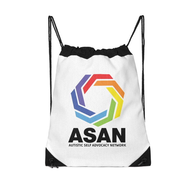 Vertical Logo Accessories Drawstring Bag Bag by Autistic Self Advocacy Network Shop
