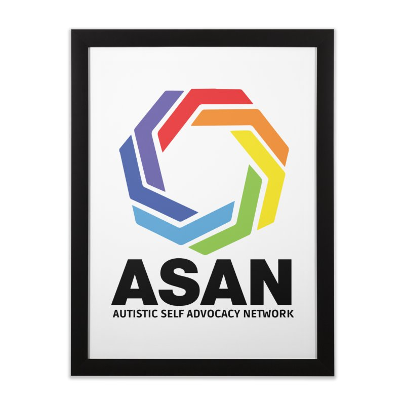 Vertical Logo Home Framed Fine Art Print by Autistic Self Advocacy Network Shop