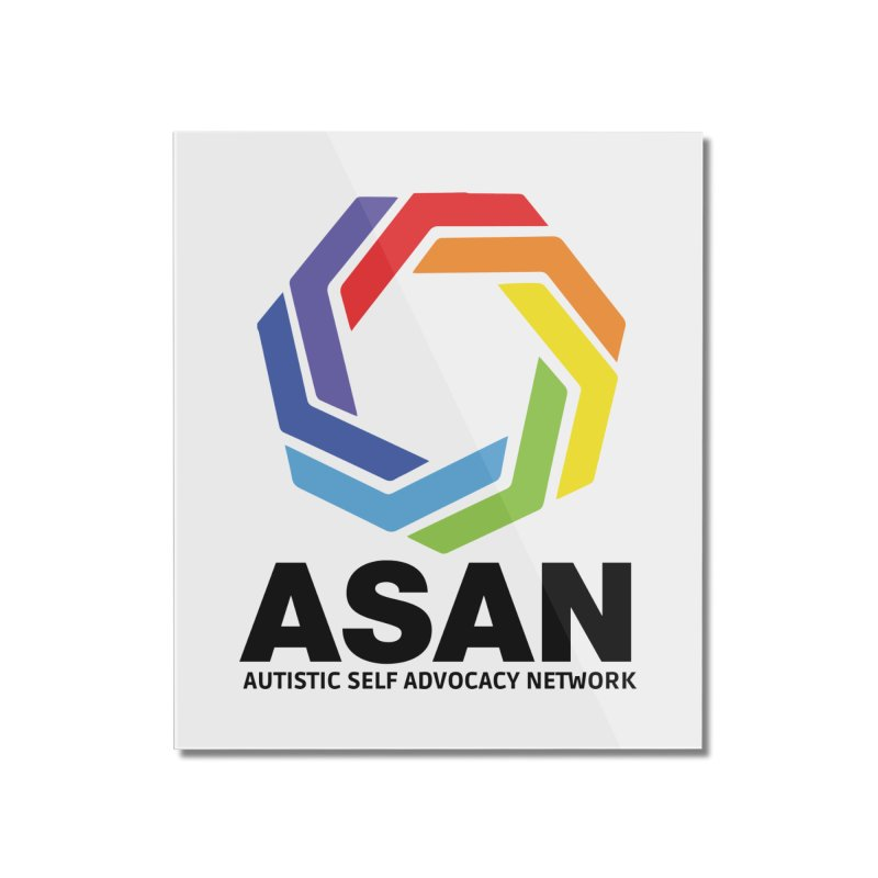 Vertical Logo Home Mounted Acrylic Print by Autistic Self Advocacy Network Shop