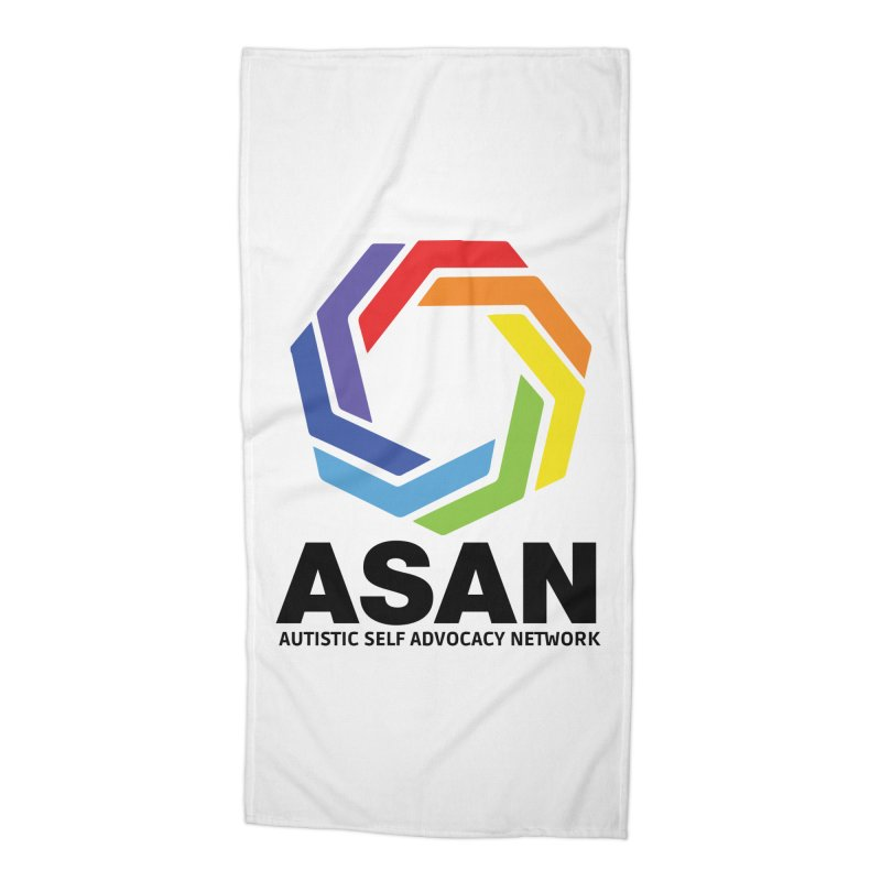 Vertical Logo Accessories Beach Towel by Autistic Self Advocacy Network Shop