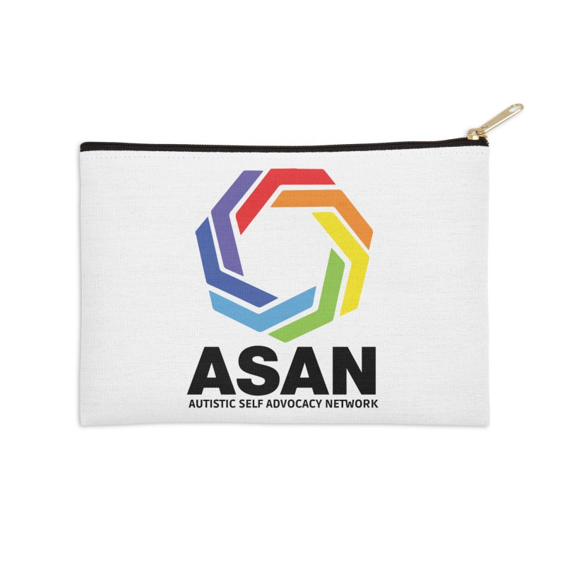 Vertical Logo Accessories Zip Pouch by Autistic Self Advocacy Network Shop