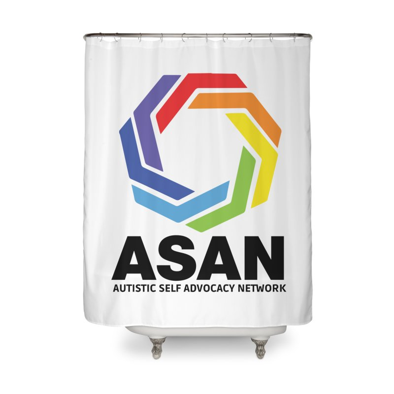 Vertical Logo Home Shower Curtain by Autistic Self Advocacy Network Shop