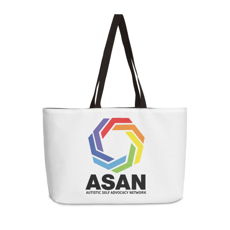 Vertical Logo Accessories Weekender Bag Bag by Autistic Self Advocacy Network Shop