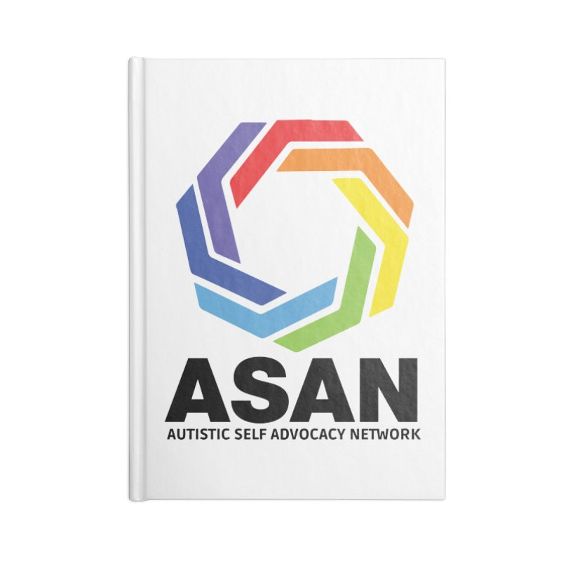 Vertical Logo Accessories Lined Journal Notebook by Autistic Self Advocacy Network Shop