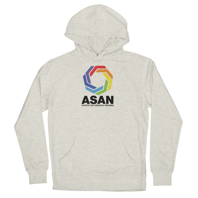 Vertical Logo Women's French Terry Pullover Hoody by Autistic Self Advocacy Network Shop