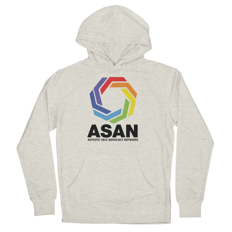 Vertical Logo Men's French Terry Pullover Hoody by Autistic Self Advocacy Network Shop