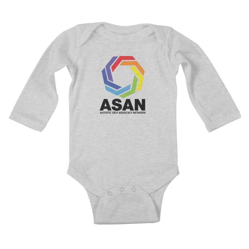 Vertical Logo Kids Baby Longsleeve Bodysuit by Autistic Self Advocacy Network Shop