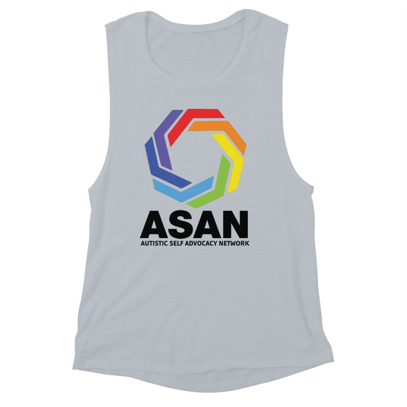 Vertical Logo Women's Muscle Tank by Autistic Self Advocacy Network Shop