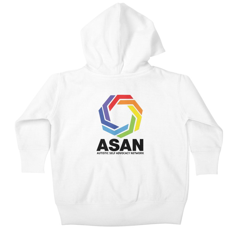Vertical Logo Kids Baby Zip-Up Hoody by Autistic Self Advocacy Network Shop