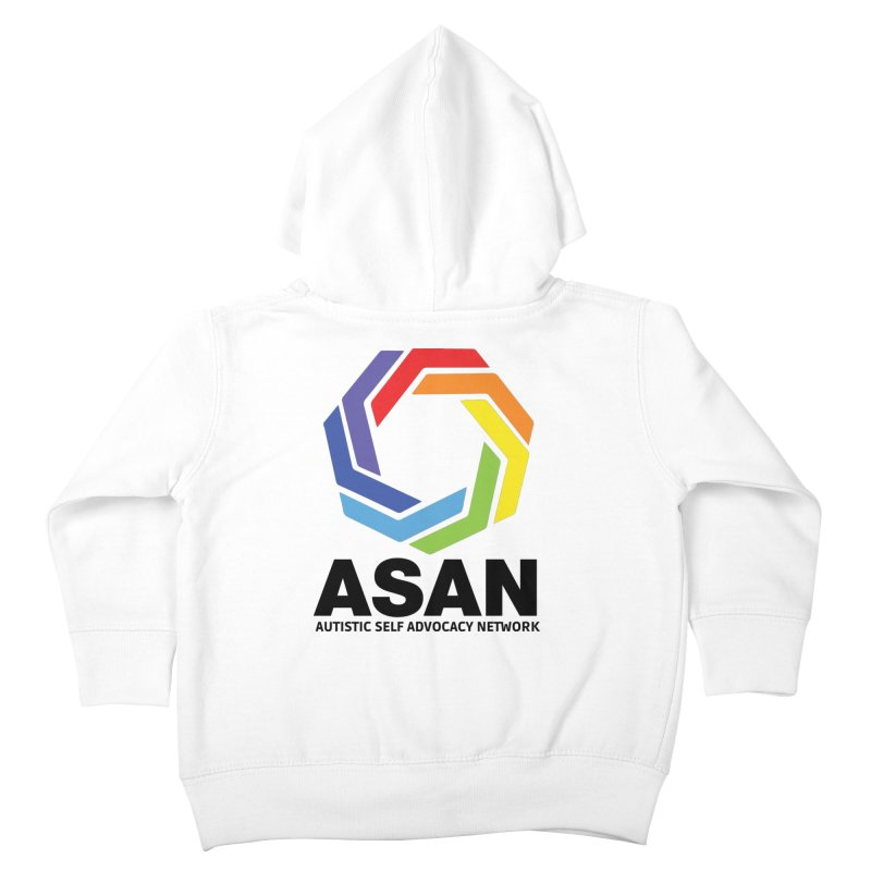 Vertical Logo Kids Toddler Zip-Up Hoody by Autistic Self Advocacy Network Shop