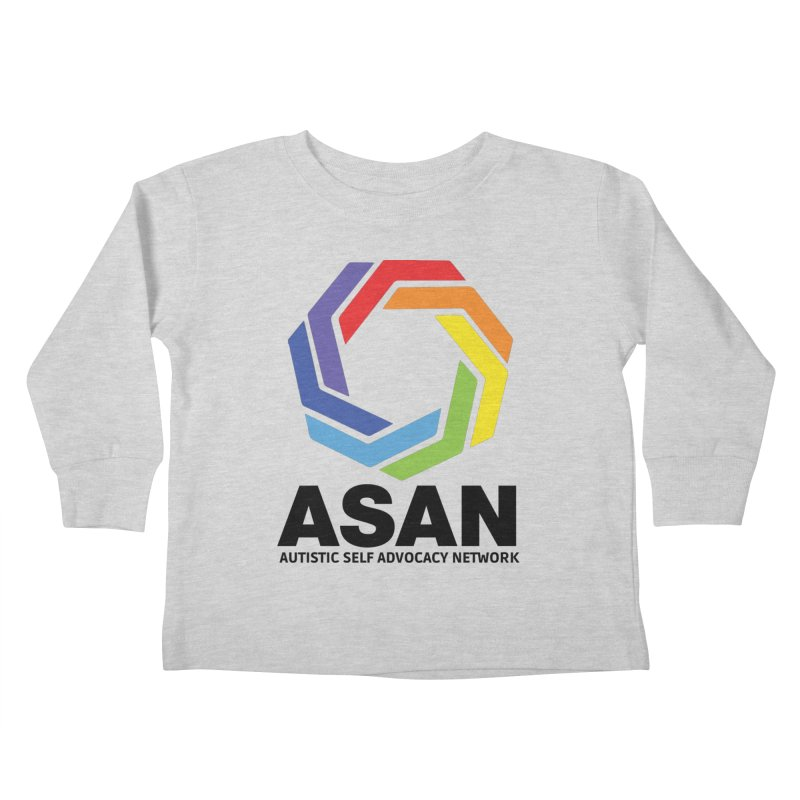 Vertical Logo Kids Toddler Longsleeve T-Shirt by Autistic Self Advocacy Network Shop