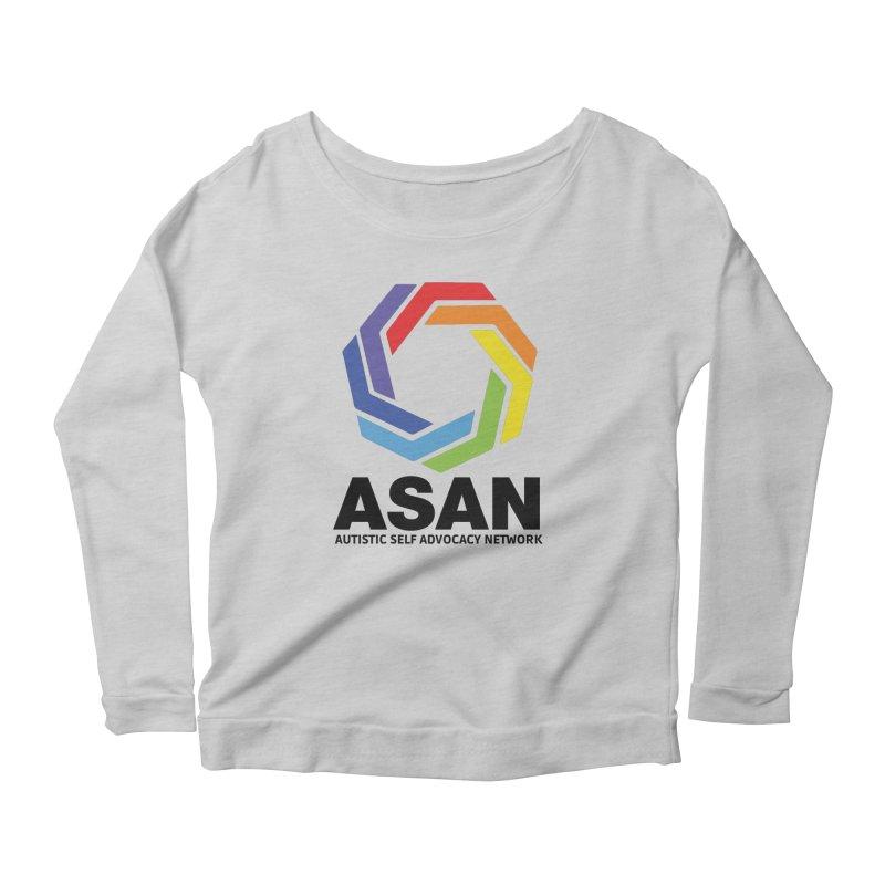 Vertical Logo Women's Scoop Neck Longsleeve T-Shirt by Autistic Self Advocacy Network Shop