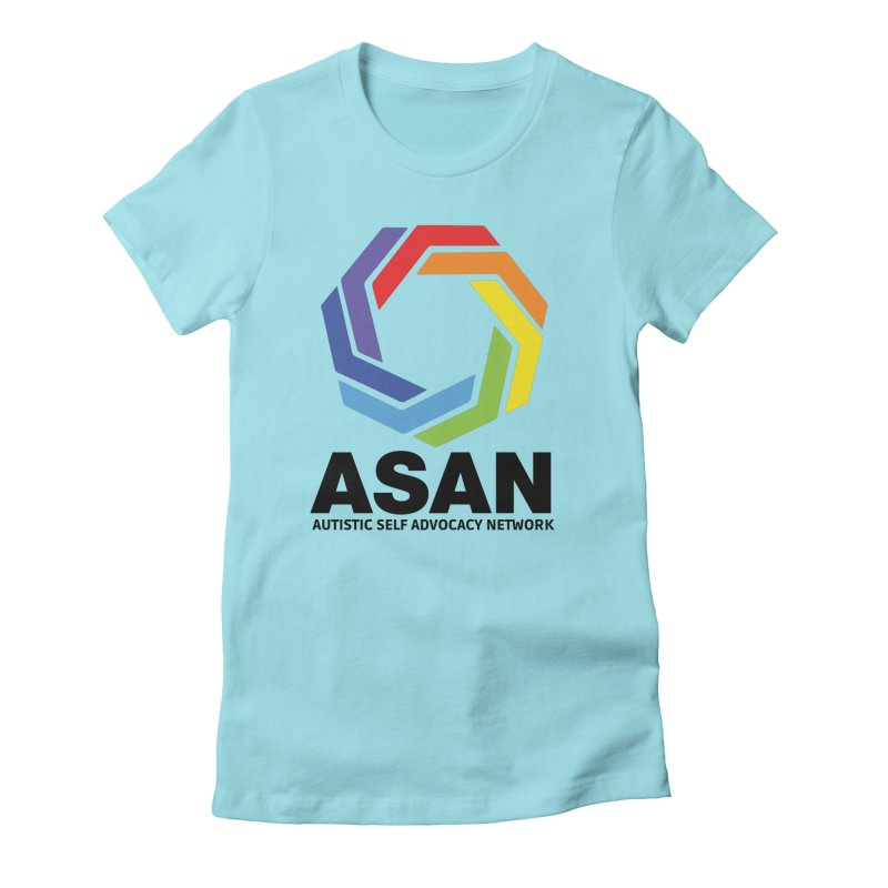 Vertical Logo Women's Fitted T-Shirt by Autistic Self Advocacy Network Shop
