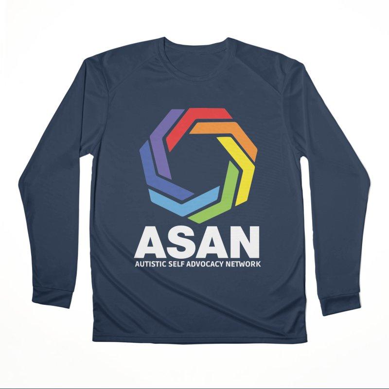 Vertical Logo (Dark) Men's Performance Longsleeve T-Shirt by Autistic Self Advocacy Network Shop