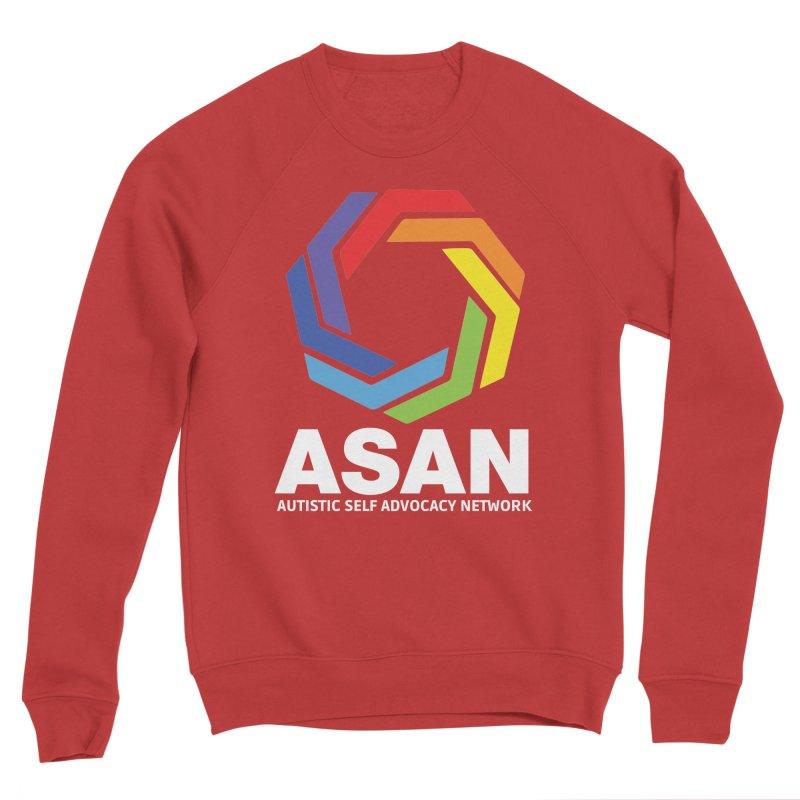 Vertical Logo (Dark) Men's Sponge Fleece Sweatshirt by Autistic Self Advocacy Network Shop