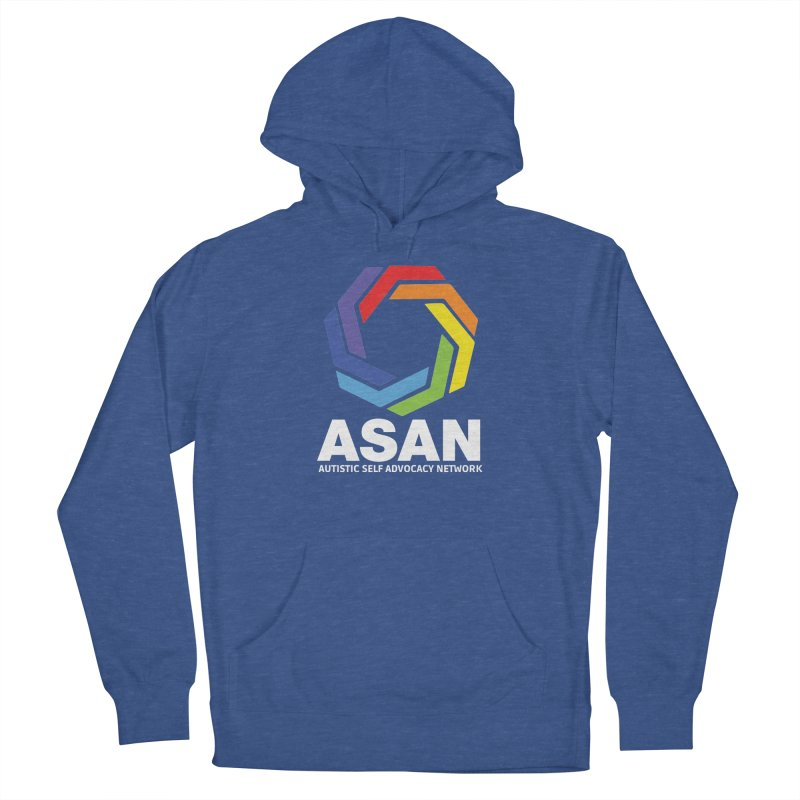 Vertical Logo (Dark) Women's French Terry Pullover Hoody by Autistic Self Advocacy Network Shop