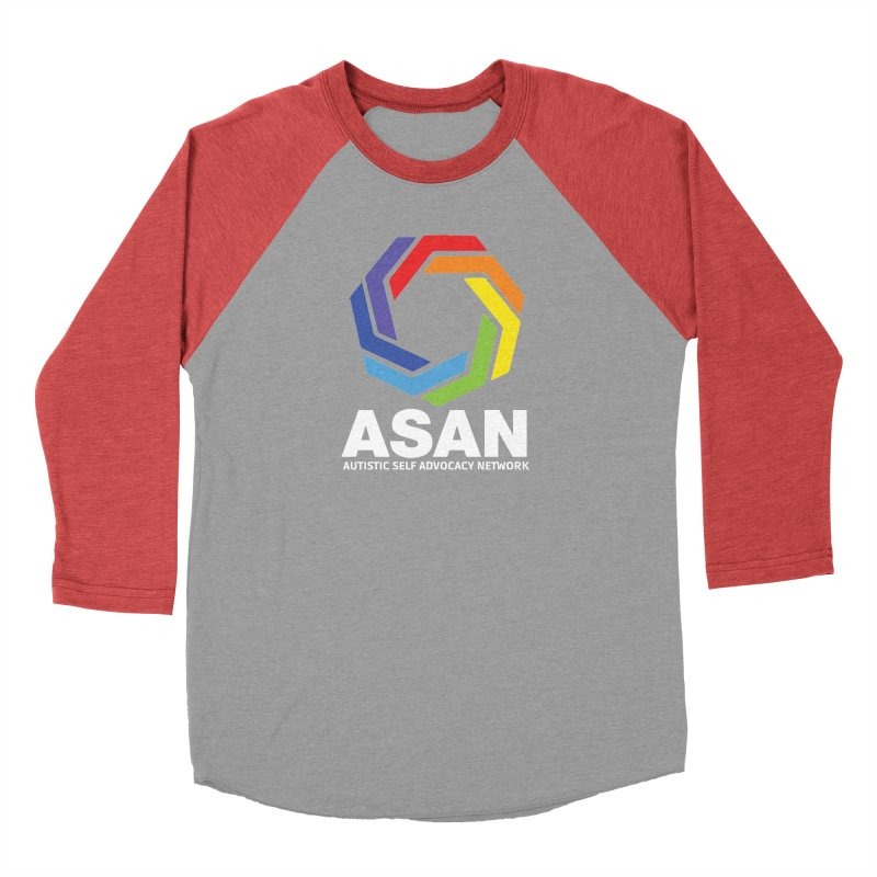 Vertical Logo (Dark) Men's Baseball Triblend Longsleeve T-Shirt by Autistic Self Advocacy Network Shop
