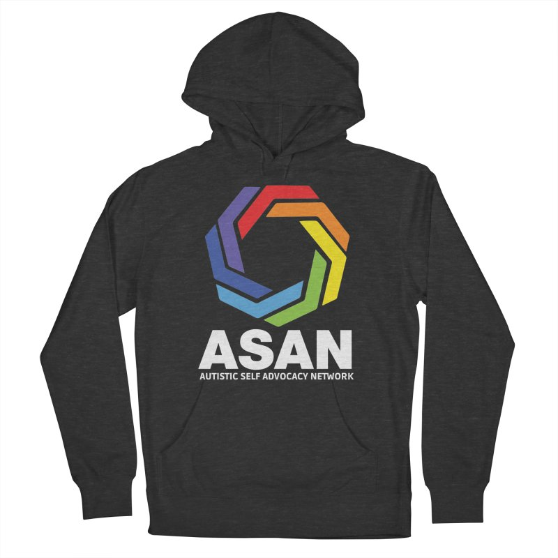 Vertical Logo (Dark) Men's French Terry Pullover Hoody by Autistic Self Advocacy Network Shop