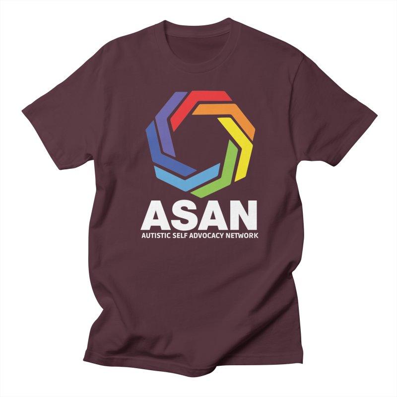 Vertical Logo (Dark) Men's Regular T-Shirt by Autistic Self Advocacy Network Shop
