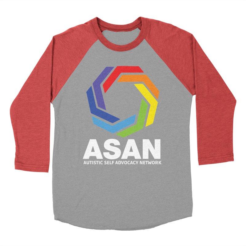 Vertical Logo (Dark) Women's Baseball Triblend Longsleeve T-Shirt by Autistic Self Advocacy Network Shop